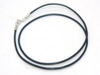 Чокер, шнур гладкая кожа серебро 2 мм