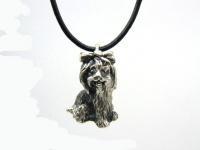 Кулон Собака (Болонка) серебро