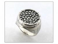 """Кольцо серебро """"Икра"""""""