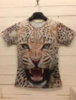 Футболка голова леопарда