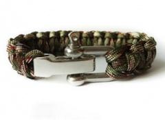 Мужские вязаные  браслеты из паракорда с железной пряжкой
