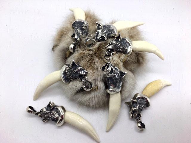 Клык рыси кулон амулет оберег талисман